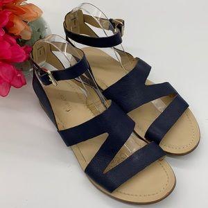 Marc Fischer Navy Leather gladiator sandals - 9.5